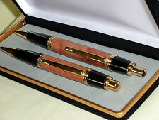 Superb Sierra Gold Pen & Pencil Set in Exotic Wood & Attractive Presentation Box