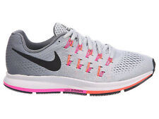 NEW WOMENS NIKE AIR ZOOM PEGASUS 33 RUNNING SHOES TRAINERS PURE PLATINUM NARROW