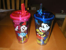 Disney Mickey Mouse Minnie Mouse  Water Bottle flip straw flip cup 16 oz NEW
