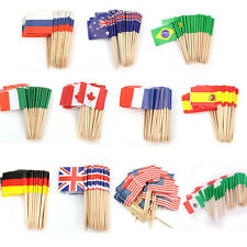 50/100x Paper Mini Birthday Party Flag Cupcake Topper Food Picks Cake Decoration