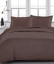 1200 Thread Count Egyptian Cotton 4PC's Sheet Set Chocolate Solid