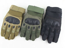 Tactical Airsoft Paintball Motorcycle Knuckle Cycling Outdoor Full Finger Gloves