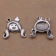 20*21mm 20pcs Antique Silver Cartoon princess Charms pendant for jewelry making