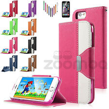 Luxury Magnetic Flip Cover Stand Wallet PU Leather Case For Apple iPhone 6S 6