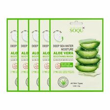 SOQU Deep Water Moisture Aloe Vera Soothing Mask Pack 5/10/20ea Facial Skin Care