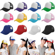 Men Women Hip Hop Baseball Mesh Cap Adjustable Snapback Trucker Golf Visor Hats