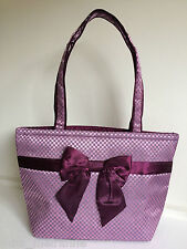 "*SALE* NaRaYa ""Ribbon bag"" 365 Large Shoulder Bag (Black,Purple) Elegant"