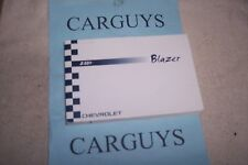 2004 CHEVROLET BLAZER    OWNERS MANUAL WITH CASE