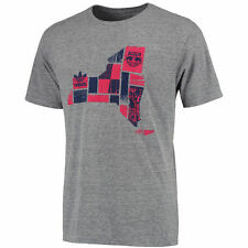 adidas New York Red Bulls Gray Woodblock Tri-Blend T-Shirt