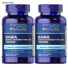 GABA 90/180 Caps. Gamma Aminobutyric Acid Relaxation Nervous System Support