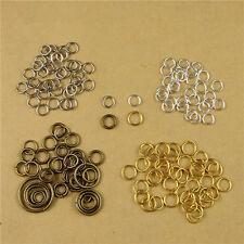 Alloy Single Loops Open Jump Rings & Split Rings Jewelry Findings DIY