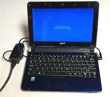 "Acer Aspire One D150-1165 Blue Intel Atom N270 1.60 GHz 10.1"" 1GB Netbook WIN 10"