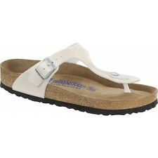 Birkenstock GIZEH Ladies Womens Buckle Toe Post EVA Summer Beach Sandals White