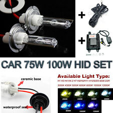 75W 100W Car HID Kit Replacement Xenon Light Ballast H1 H3 H4 H7 9005 9006