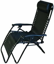 Redwood Leisure Textilene Reclining Chair Outdoor Patio Lounger Furniture- Black