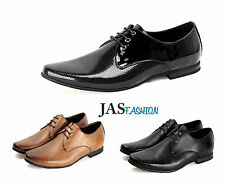 Mens Lace Up Formal Shoes Dress Smart Fashion Casual Work Office Wedding Size UK