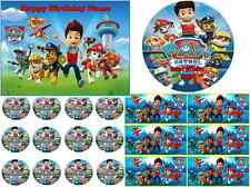 EDIBLE CAKE IMAGE PAW PATROL PARTY ICING SHEET  TOPPER CUPCAKES OR STRIPS