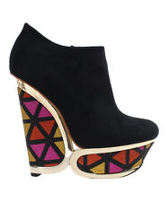 Privileged Black Rumble Wedge Bootie Size : 7.5, 8, 8.5, 9 NWT