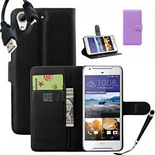 HQ Wallet Money Card Leather Case Cover For HTC Desire 628 + SP & Stylus & Cable