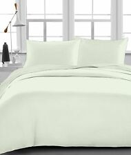 100% Egyptian Cotton 4'PCs Soft Bed Sheet Set Ivory Solid 1200-Thread Count