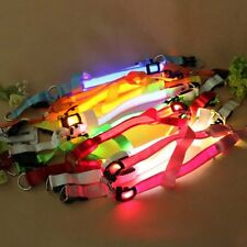 Multi-Colors LED Flashing Safety Lighted Pet Dog Belt Harness Leash Tether Rope