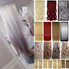 Mega Thick One Piece Clip In Hair Extensions Straight Curly Wavy for real hair