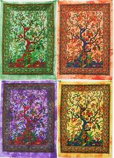 Hippie Bohemian Wall Hanging Indian Decor Small Tapestry Tree Of Life 30x40""