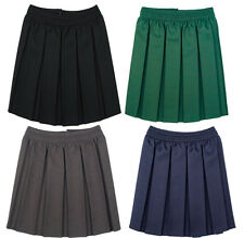 GIRLS BOX PLEAT SCHOOL SKIRT * FULLY PLEATED * FULL ELASTICATED WAIST *4 COLOURS