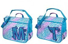 JUSTICE Girls Cool Zebra Initial M Or T Messenger Bag, NEW  Backpack Tote