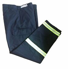 Red Kap Reflective Men's Enhanced Visibility Black Cargo Uniform Pants Low Tape