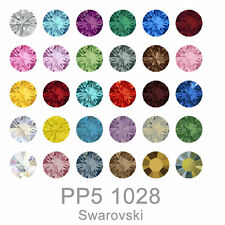 Direct Order Swarovski 1028 XILION Chaton Round Stone Crystal PP5 All Color