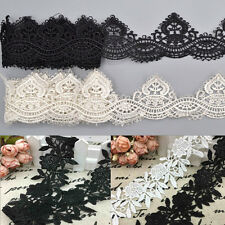1 Yard DIY Lace Trim Ribbon Bridal For Sewing Wedding Dress Embroidered Craft