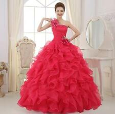 Flower Beaded Long Quinceanera Dresses Formal Evening Ball Prom Gown Custom