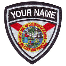 FLORIDA CUSTOM CREST FLAG NAME EMBROIDERED PATCH