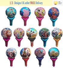 Reuseable Children Party Hand Balloons Frozen Peppa Pig Minions Star Wars Mickey