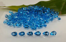 Topaz 100% Natural Loose Gemstone Pear Shape Lost IF Swiss Blue Topaz