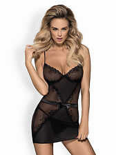 Obsessive Lustella Chemise Thong Babydoll Nighdress Sexy Lingerie Nightwear New