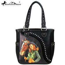 NEW Montana West Western Cowgirl Handbag Purse Silver Studs Rodeo Ranch Horse