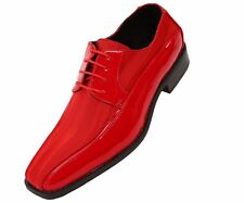 Viotti Mens Red Dress Oxford with Striped Satin and Patent Trim : Style 179-005