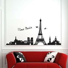 Removable Paris Eiffel Tower Vinyl Art Decal Mural Room Wall Stickers Decor'
