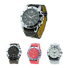 Womage Men's Fashion Oversized Dial Quartz Steel Wrist Watch HP