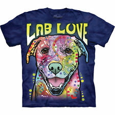 Dog Is Luv Psychedelic Short Sleeve T-Shirt - Labrador