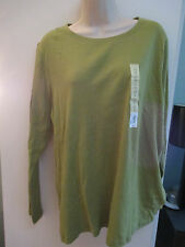 NWT Misses Plus Size  Long Sleeve Crew Neck Shirts, Top, T Shirt, Sonoma
