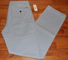 NWT Mens Brooks Brothers Flat Front Milano Fit Garment-Dyed Chinos Lt Blue *V1