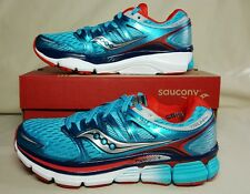 SAUCONY WOMENS TRIUMPH ISO SNEAKERS BLUE/RED S10262-5 NEW/BOX MULTIPLE SIZES