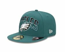 Philadelphia Eagles Size: 7 RARE! Basic Draft New Era 59FIFTY Cap Fitted Hat $40