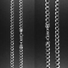 "ITALY 925 Sterling Silver Fancy CURB Chain Necklace-Fency CURB Bracelet- 8""~24"""