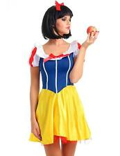 Adult Woman Snow White Princess Fairy Tale Halloween Costume Cosplay Fancy Dress