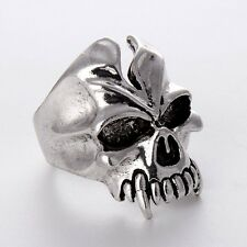 HOT Fashion Jewelry Stainless Steel Mens/Womens Unique Cool Silver skull Rings