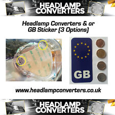 Headlamp Beam Deflectors Head Light Convertors Adaptor Euro Driving GB Sticker